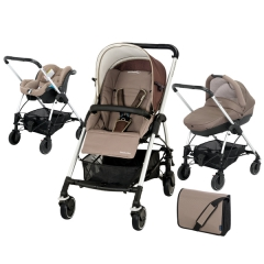 Bebe Confort Streety Pack Walnut Brown детская коляска 3 в 1